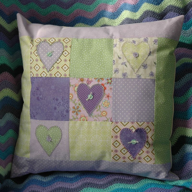 Springtime Hearts Cushion